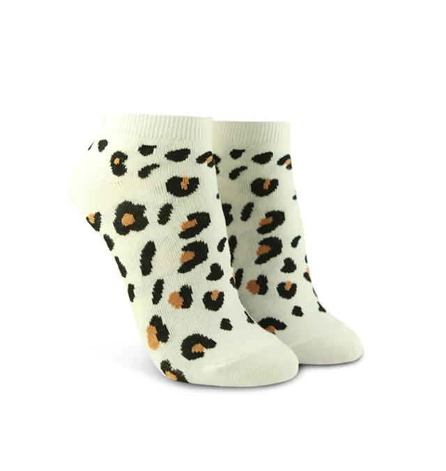 Forever 21 Leopard Graphic Ankle Socks
