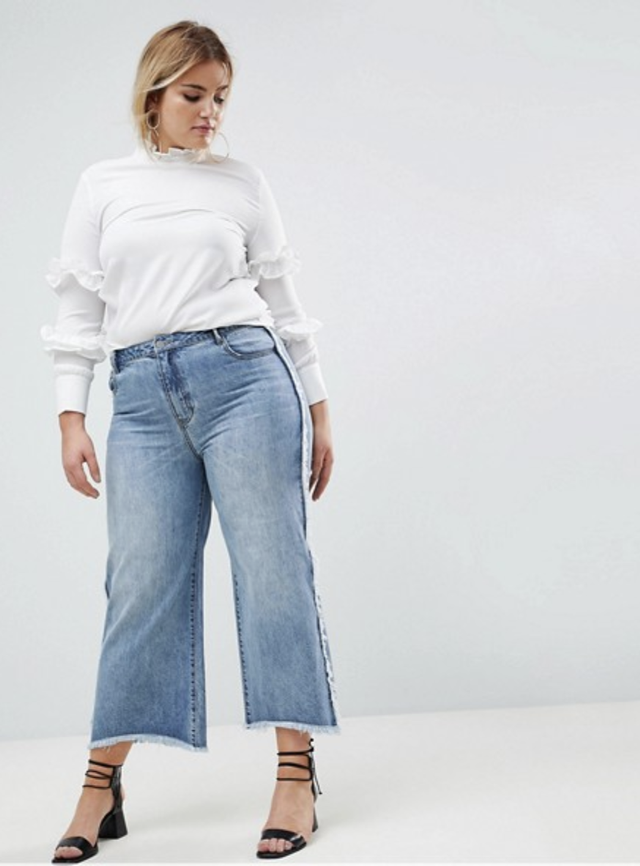 Current Air Wide Leg Jean With Raw Finish