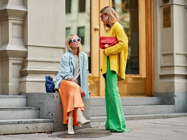 Colourful street style outfits