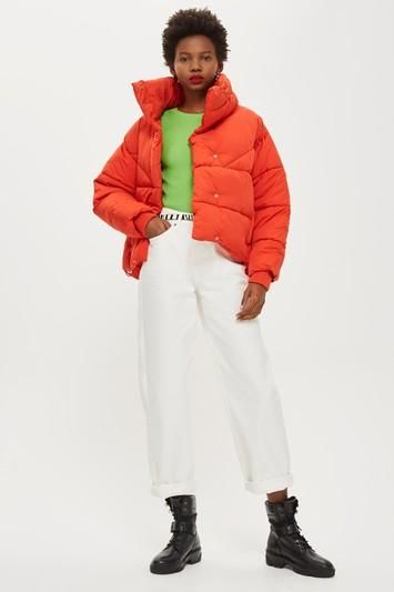Red Wrap Puffer Jacket