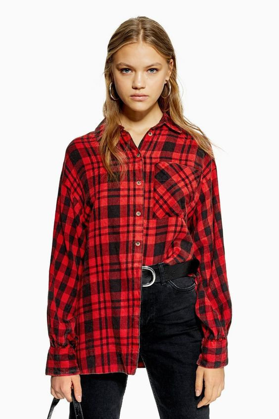Halloween costumes with an oversize check shirt