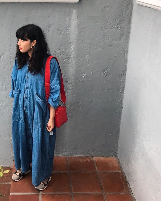 Oversize denim jumpsuit outfits