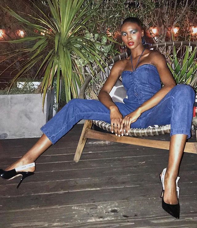 Denim jumpsuit outfits for going out