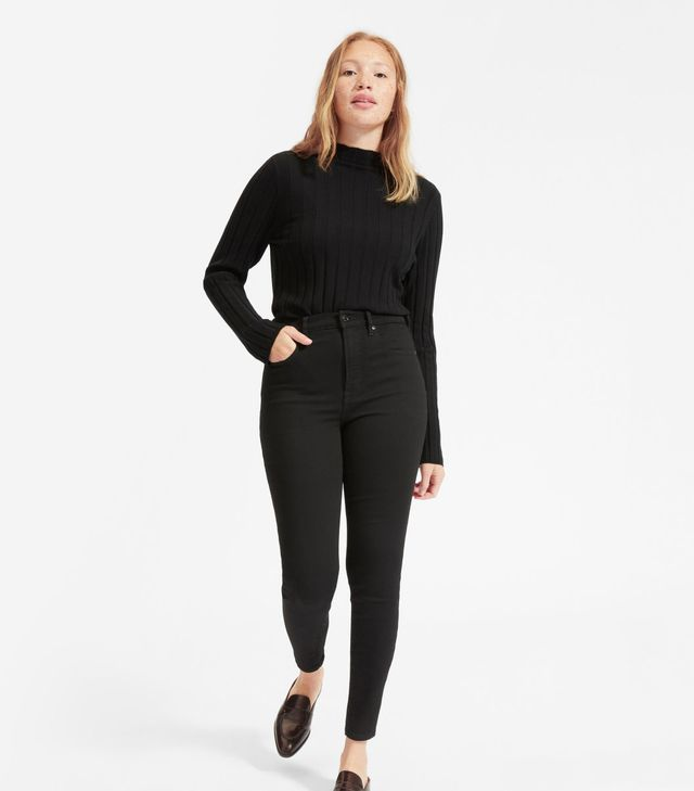 Everlane Authentic Stretch High-Rise Skinny Jeans in Black
