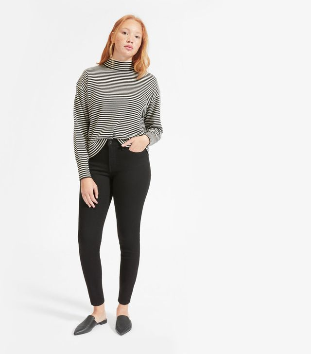 Everlane The Authentic Stretch Mid-Rise Skinny Jeans in Black