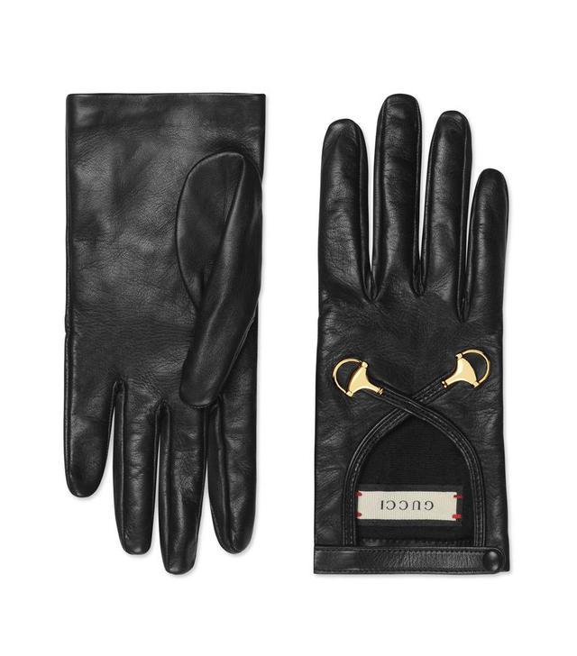 Horsebit Nappa Leather Gloves