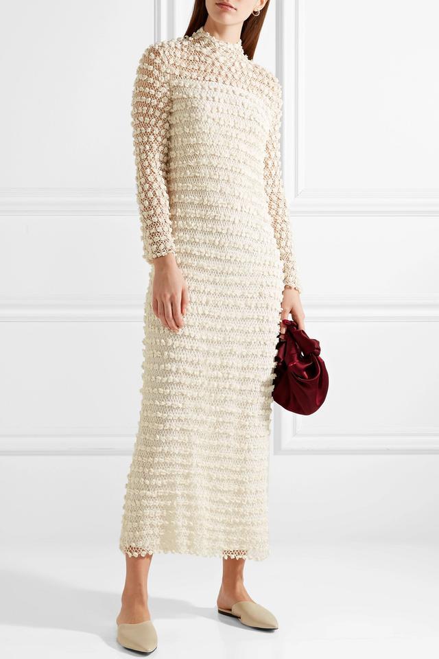 Fairy Crocheted Silk-Blend Gown