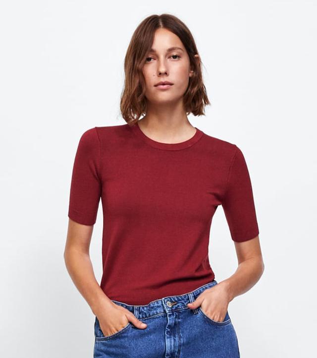 Zara Basic Knit Top