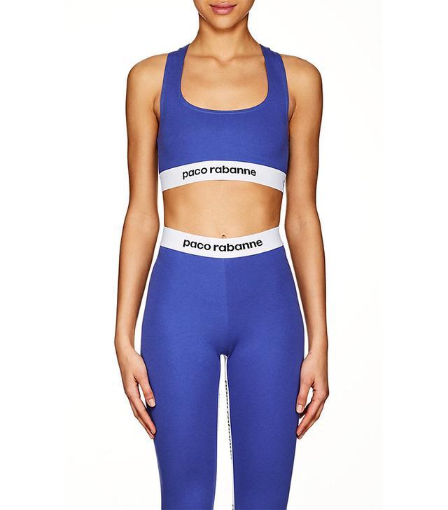 Women's Logo Sports Bra-Blue Size XS