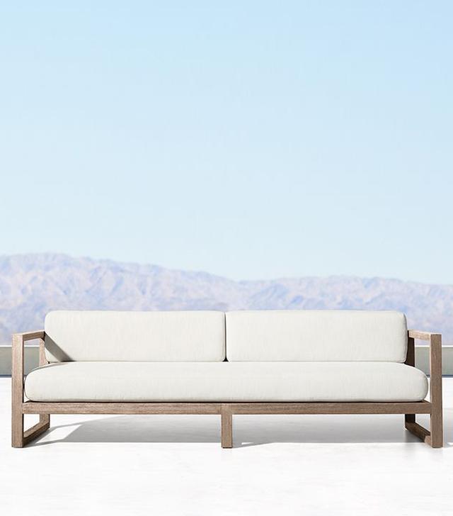 Restoration Hardware Aegean Teak Sofa
