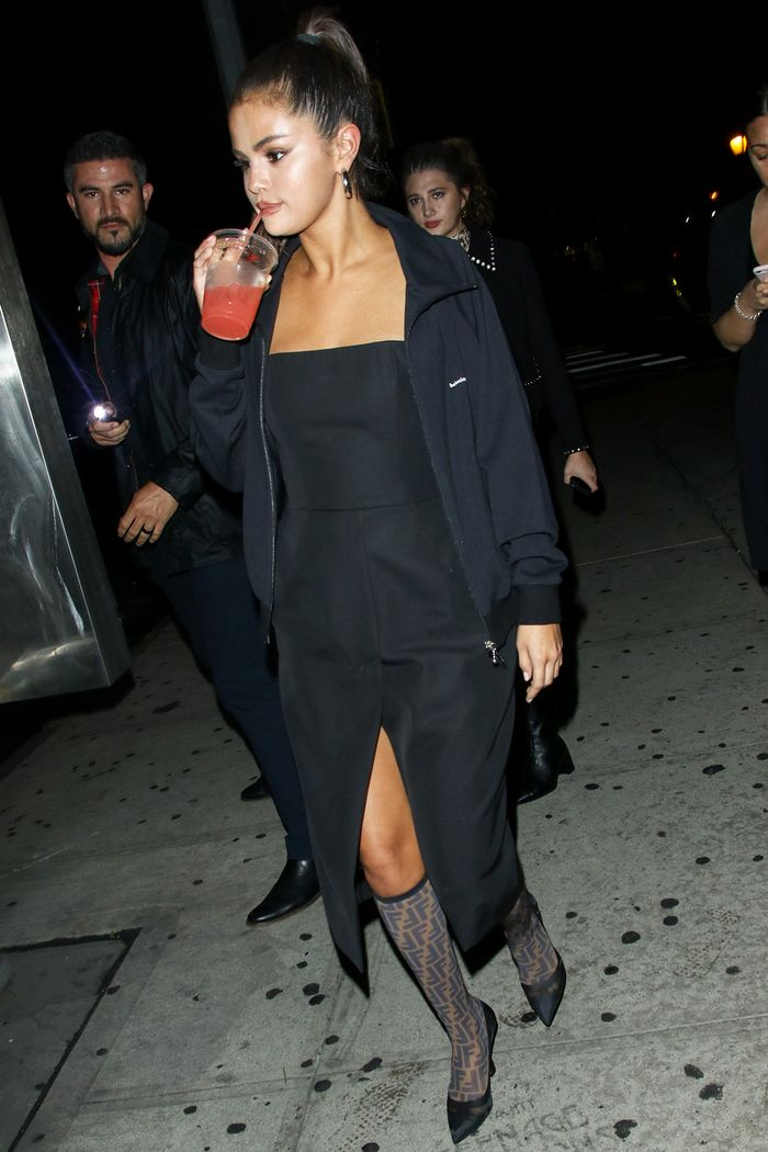 Selena Gomez Wore Fendi It Boots Who What Wear
