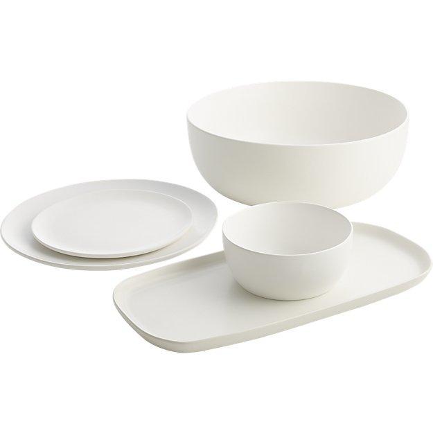 CB2 Matte White Dinnerware