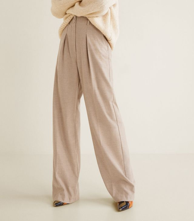 Mango Pleated Suit Trousers
