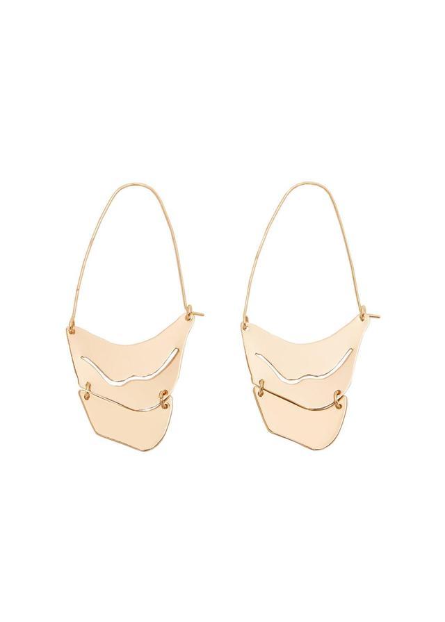Slim metal earrings