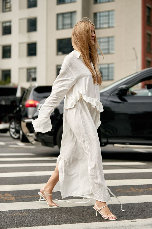 NYFW shoe trends the row sandals