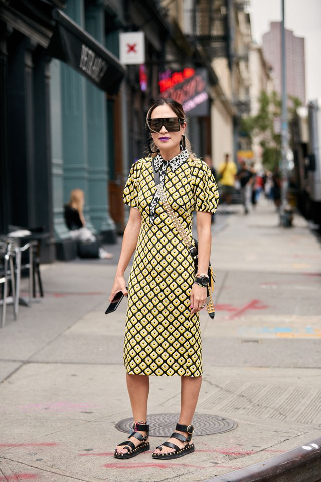 NYFW shoe trends chunky sandals