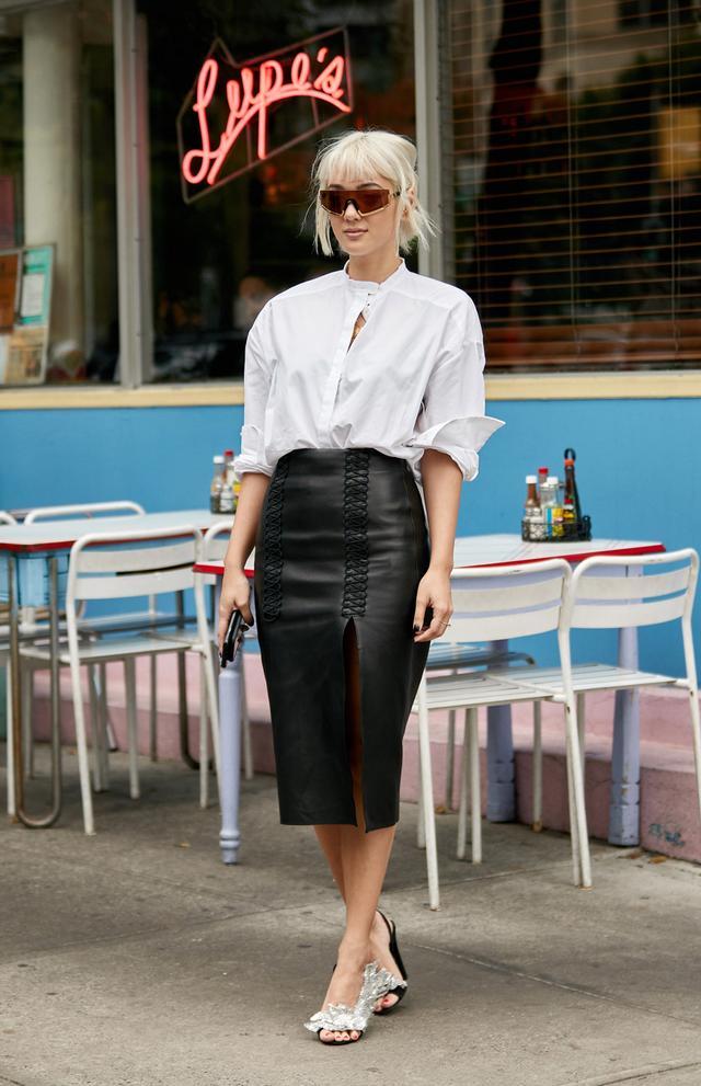 NYFW shoe trends Balenciaga heels