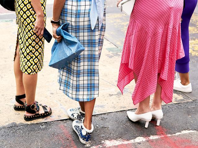 NYFW shoe trends street style