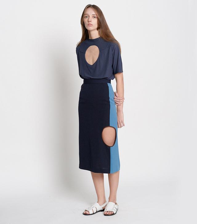 Leuni Color Blocking Skirt