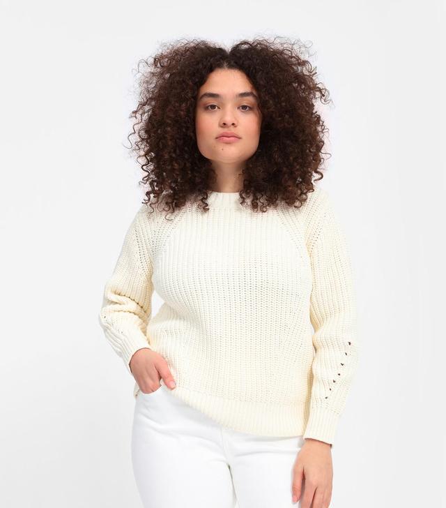 Women's Texture Cotton Crew T-Shirt by Everlane in Bone, Size XL