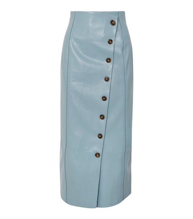 Ania Croc-effect Vegan Faux Leather Pencil Skirt