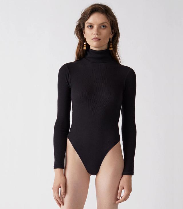 Re/Done Ribbed Turtleneck Bodysuit