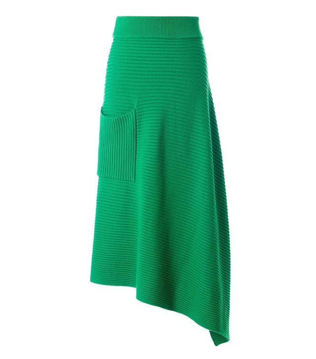 Tibi Merino Rib Origami Wrap Skirt