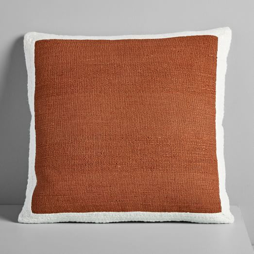 West Elm Textured Border Pillow Cover