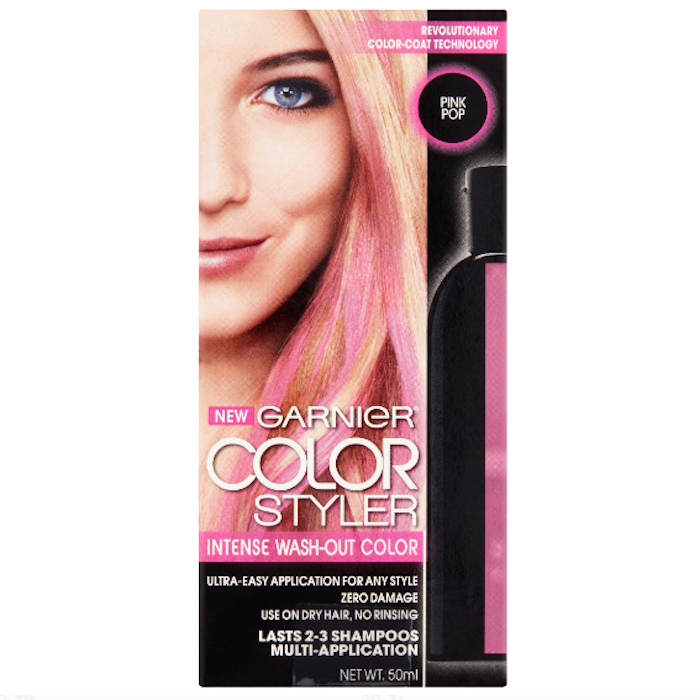 Pink Temporary Hair Dye For Dark Hair - hair coloring