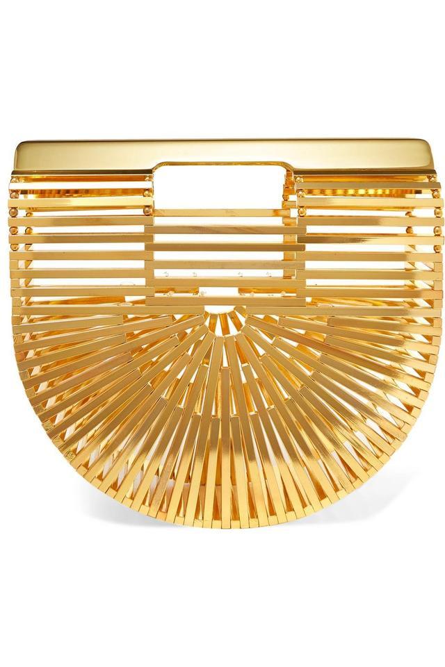Ark Mini Gold-tone Clutch