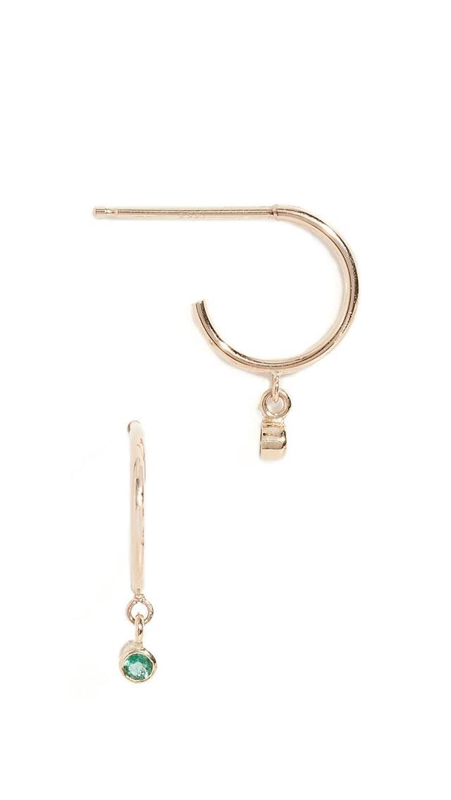 14k Tiny Huggie Hoop Earrings