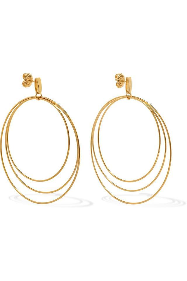 Christy 14-karat Gold-plated Earrings