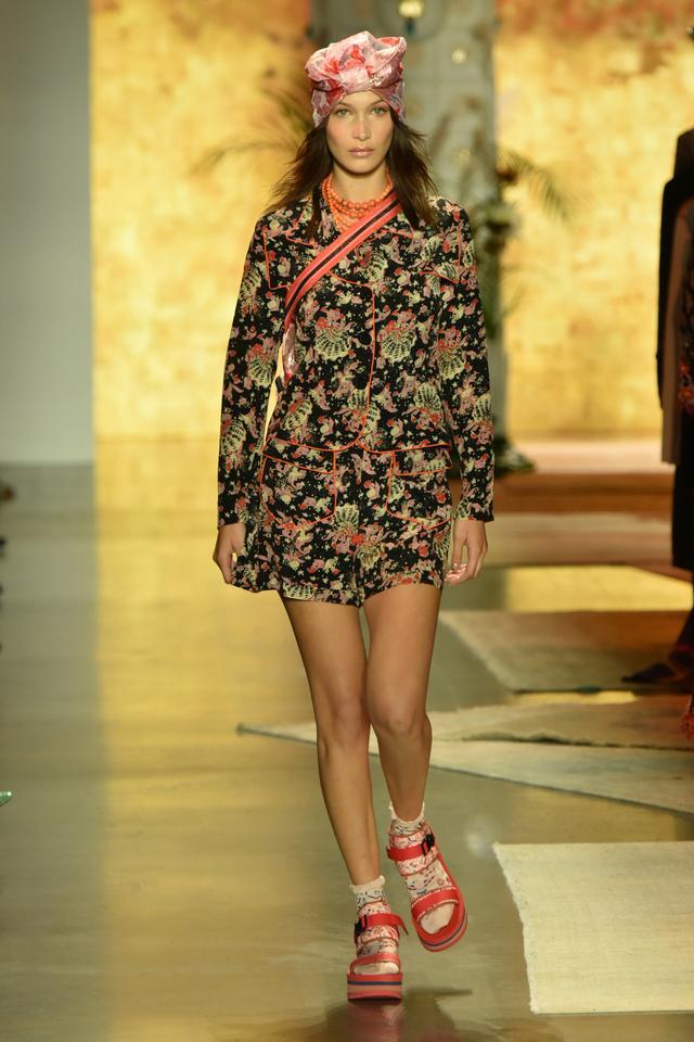 Anna Sui: Bella Hadid in Teva sandals