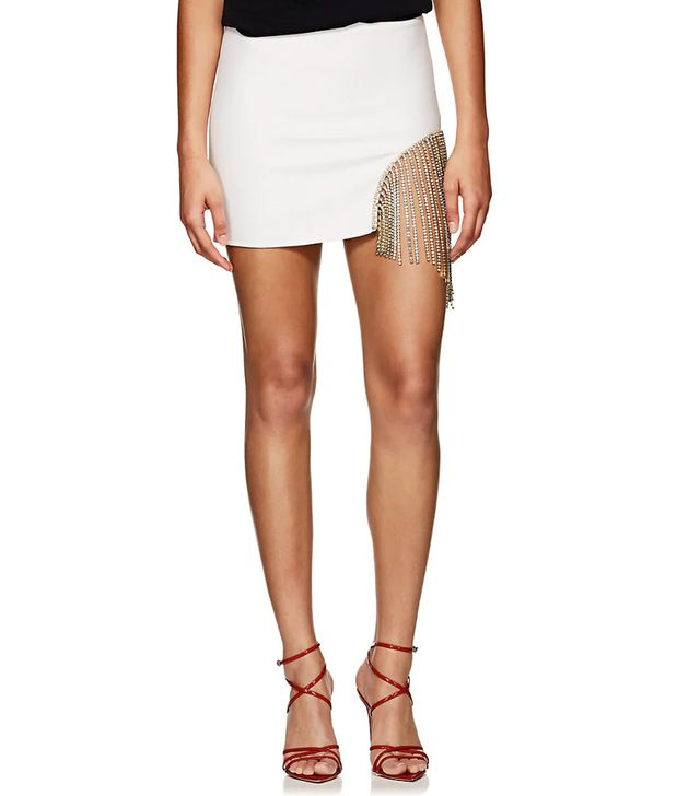 Women's Eileen Crystal-Embellished Miniskirt-Cream Size 4