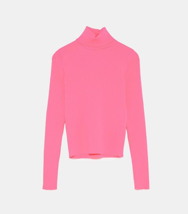 Zara Ribbed Tutleneck Sweater