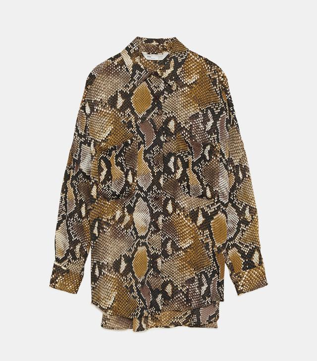 Zara Oversized Snake Print Shirt