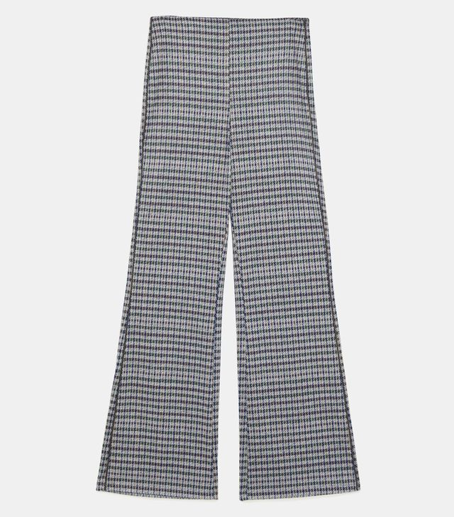 Zara Plaid Pants With Side Piping