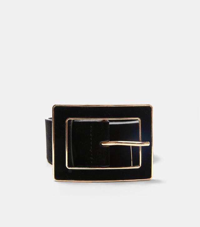 Zara Velvet Belt With Buckle