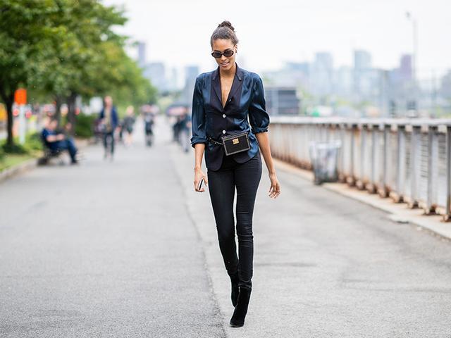 Skinny jean outfit idea