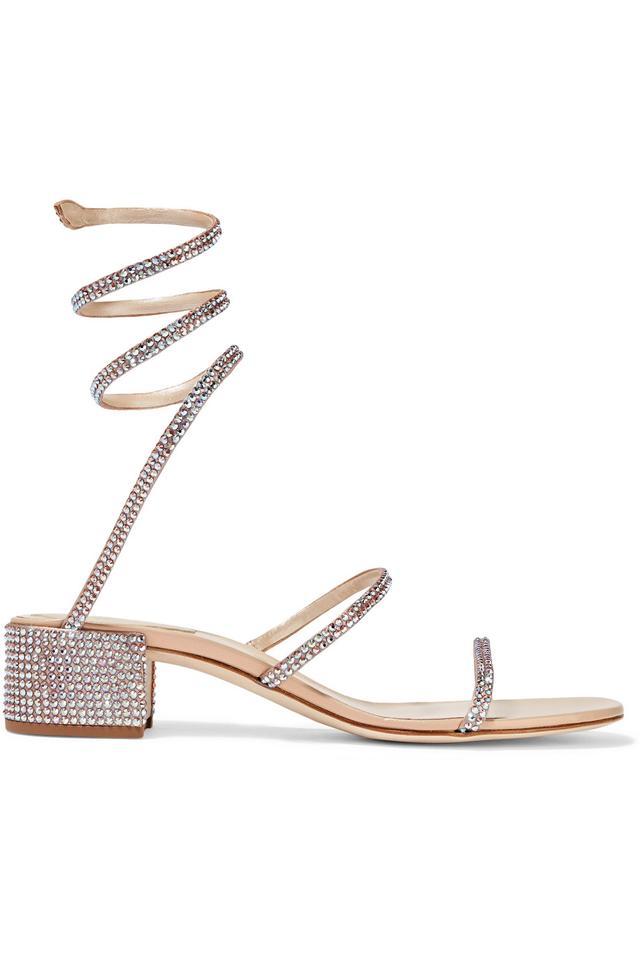 Cleo Crystal-embellished Satin Sandals