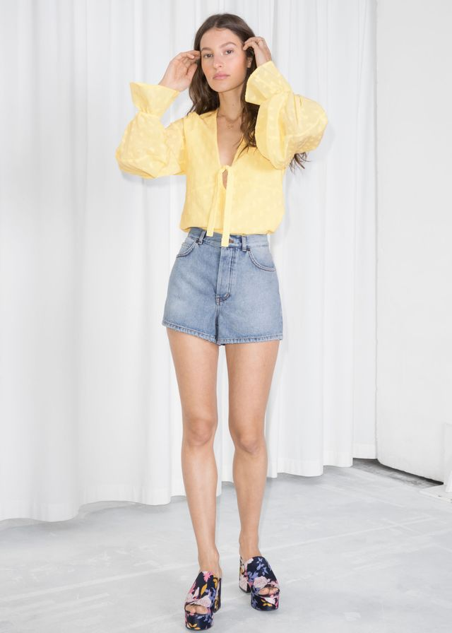 & Other Stories High-Waisted Shorts