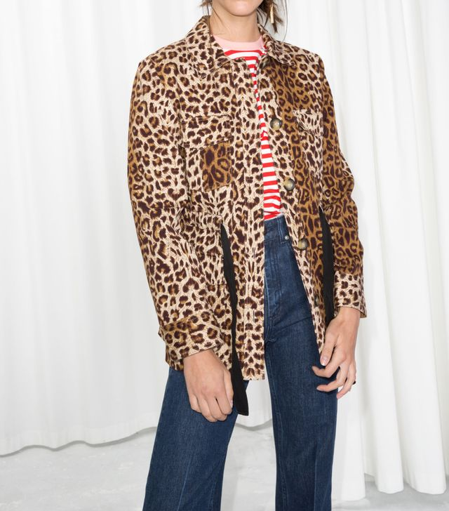 & Other Stories Leopard Print Jacket