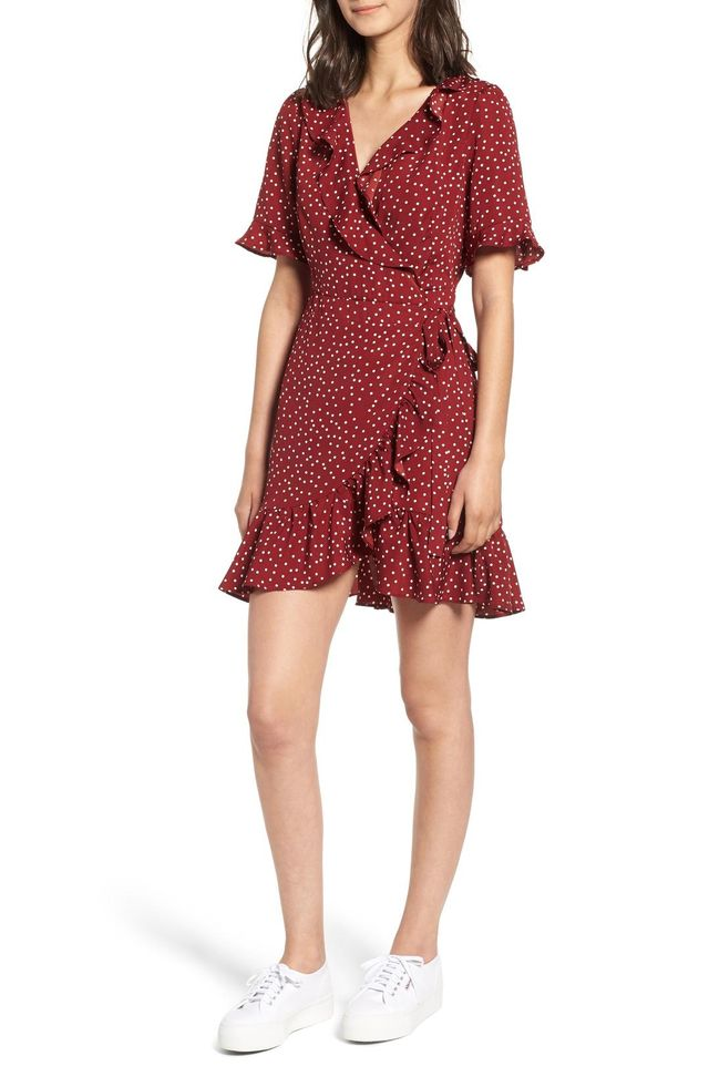 Brenna Polka Dot Wrap Dress