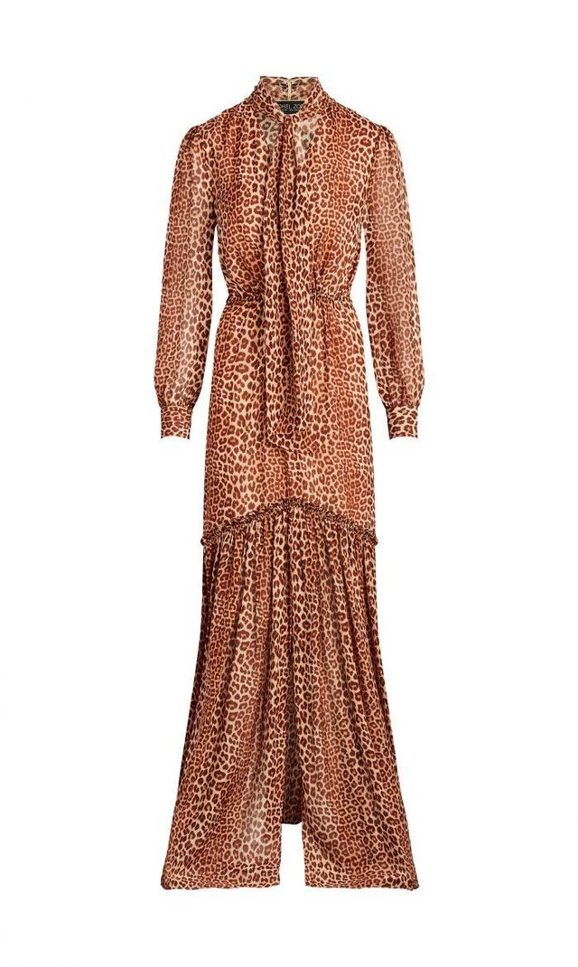 Verushka Leopard Printed Silk-Chiffon Maxi Dress