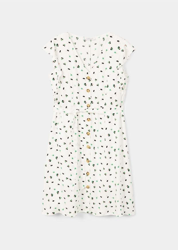 Violeta Buttoned Flowers Dress