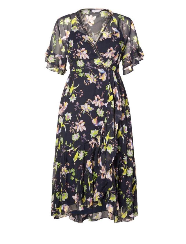 Tanya Taylor Garden Floral Crinkle Blaire Dress