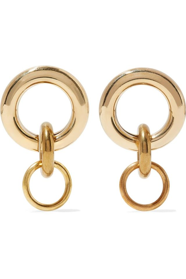 Mini Porta Gold-tone Earrings