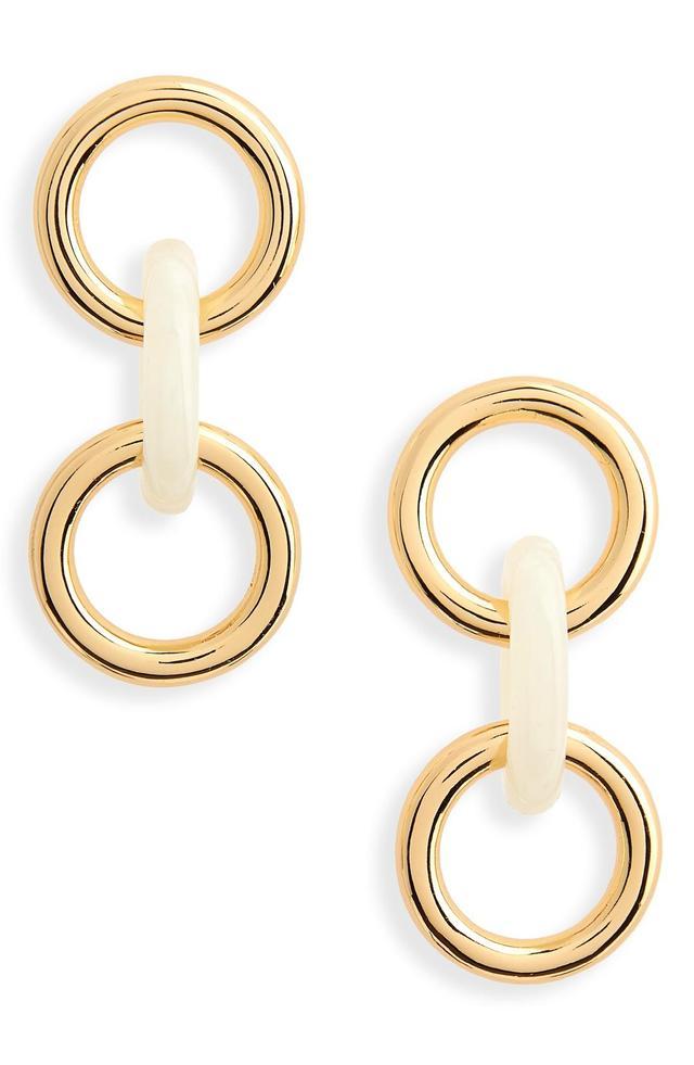 Triplet Link Drop Earrings