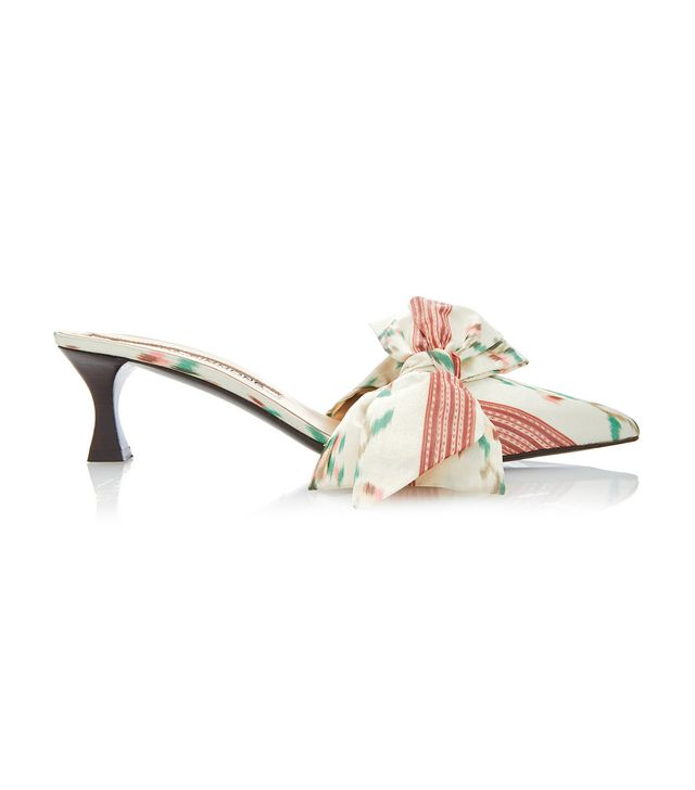 Tabitha Simmons for Brock Collection Silk Bow Mules