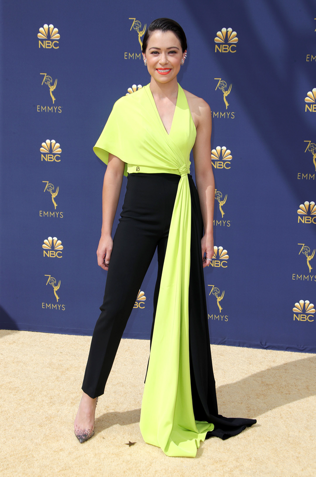 <p><strong>WHO:</strong> Tatiana Maslany</p> <p><strong>WEAR:</strong> Christian Siriano jumpsuit</p>